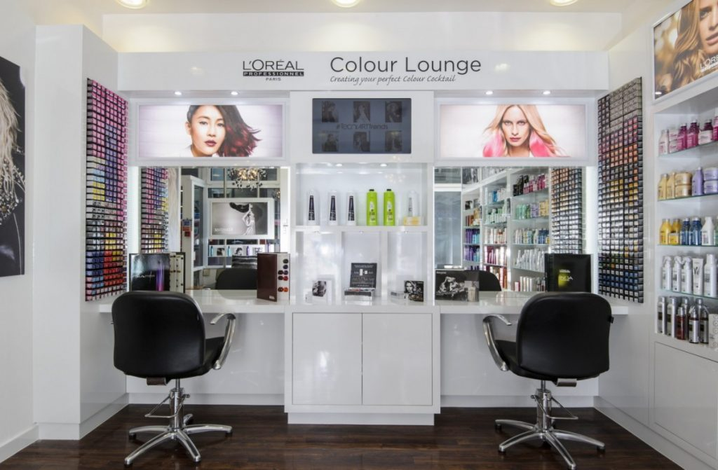 l'oreal colour lounge and chairs photograph